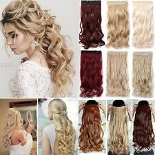 100% Thick Clip In Hair Extension 3/4Full Head Hair Extentions as human hair T6e