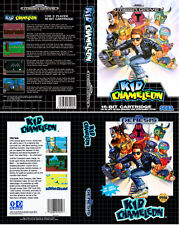 Kid Chameleon Mega Drive NTSC PAL Replacement Box Art Case Insert Cover Scan