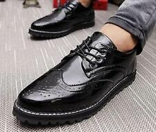 Mens Sneakers Casual Lace Up Wing Tip Dress Loafers Driving Chic Brogue Shoes