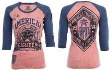 American Fighter AFFLICTION Women T-Shirt CALIFORNIA Tattoo Biker UFC Sinful $40