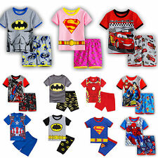 Boys Kids Marvel Pyjamas Short Sleeve T-Shirt Shorts Pants Summer Outfits Set