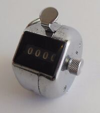 Vintage Chrome Hand held Tally Clicker Counter 4 Digit Number Clicker Golf Japan