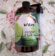 WEN by Chaz Dean~SUMMER COCONUT LIME VERBENA CLEANSING CONDITIONER 16 oz w/Pump
