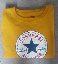Converse All Star T-shirt  Top Mens Size XL  Mustard- Yellow Colour With Logo