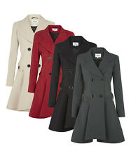 De La Crème - Women's Spring/Summer Jacket Ladies Double Breasted Flary Coat