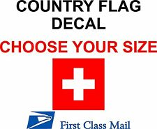 SWISS COUNTRY FLAG, STICKER, DECAL, 5YR VINYL, STATE FLAG