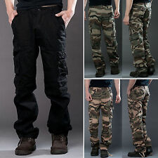 Men Combat Cargo ARMY Straight Pant Military Camouflage Camo Casual Long Trouser