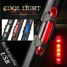 USB Rechargable Bike Bicycle Cycling LED Front Rear Tail Lights Lamps Waterproof