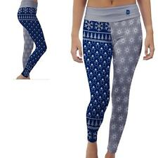 Dickinson State University Blue Hawks Womens Yoga Pants Christmas Party  Design
