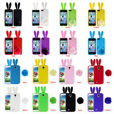 Soft Cute Bunny Rabbit TPU Back Phone Cover Case Skin For iPhone Samsung