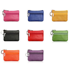 1PC Mini Small Leather Zip Coin Purse Key Ring Party Wallet Pouch Purse Bag