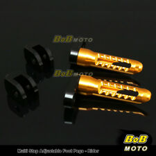 For Suzuki GSF 650 Bandit 05 06 07 08 GOLD 25mm Adjustable Front Foot pegs