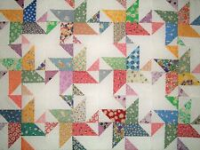 12 Quilt Blocks Reproduction 1930s Sewn Scrappy stars for quilt tops 8.5 inch