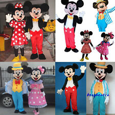Halloween Mickey and Minnie Mouse couple Mascot Costume Adult Fancy Dress Party