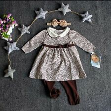 Toddler Infant Kids Baby Girls Long Tops Dresses+Pants Outfits Clothes 2PCS Sets