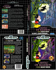 Castle Of Illusion Sega Mega Drive PAL NTS Replacement Box Art Case Insert Cover