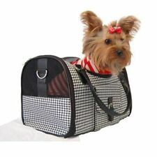 Black White Houondstooth Carrier Mesh Window For Pet Dog Cat  Small Gift for Pet