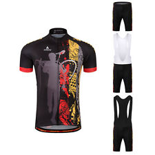 Mens Cycle Clothing Reflective Bike Jersey Padded (Bib) Shorts Cycling Kit S-5XL