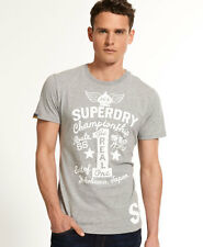 New Mens Superdry Real 1 Reworked T-Shirt Grey Marl