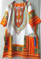 African Shirt Dress Men Women Print Dashiki Hippie Caftan Unisex Boho Summer.
