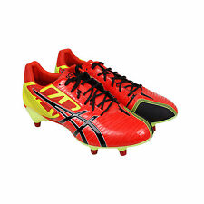 Asics Gel Lethal Speed Mens Orange Leather Athletic Rugby Cleats Shoes