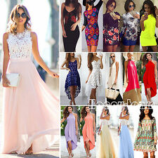 Multi Style Women Lady Summer Dress Beach Party Evening Knee Mini / Maxi Dresses