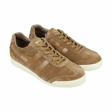 Gola Harrier Suede Mens Brown Suede Lace Up Sneakers Shoes