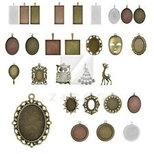 31 Style 1-15pcs Lots Antique Brass Metal Charm Pendants Supply Jewelry Making