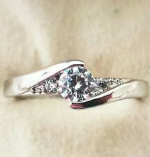 Stunning Ladies Simulated Diamond 925 Sterling Silver Ring,  Various Sizes
