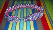 Custom paracord dog collar! choose your color, size and options!