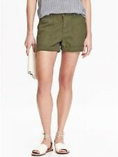 OLD NAVY WOMENS SURPLUS BOYFRIEND CUFFED CARGO SHORTS (olive green)