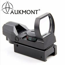 Holographic 4 Reticle Red /Green Dot Tactical Reflex Sight Scope Mount 11 / 20mm