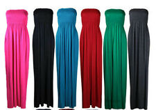 WOMENS SHARING BOOBTUBE BANDEAU MIDI MAXI DRESS LONG SUMMER MAXI DRESS SIZE 8-26