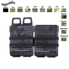 Tactical Fast Holster Set Molle Mag Clip 5.56 / 7.62 Fast Mag Magazine Pouch