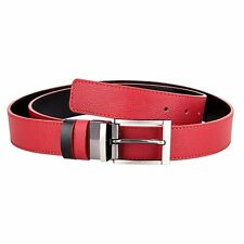Reversible Red Leather Belt Black Adjustable belts Womens Mens Casual Waist