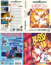 Bubsy 2 Sega Mega Drive & Genesis PAL NTSC Replacement Box Art Case Insert Cover