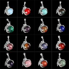 1Pcs Silver Plated Dragon Claw Wrap Ball Pendant Bead Gemstone Natural Necklace
