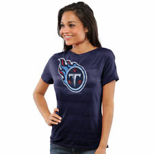 Tennessee Titans Juniors Bolder Burnout T-Shirt - Navy Blue - NFL