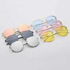 Colorful Ocean Glasses Lens Sunglasses Alloy Frame Vintage UV400 Eyewear GF