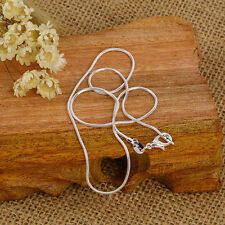 New Fashion 5pcs Silvery Snake Chain Necklace 16-24 Inch 1.2mm Jewelry Gift GF