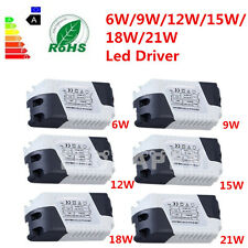 New Dimmable LED Light Lamp Driver Transformer Power Supply 6/9/12/15/18/21W GF