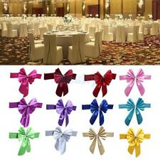 Various Dining Chair Back Wedding Event Stretch Sash Band Cover Bow Decor