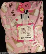 Joe Boxer Women's 2-Pc Flannel Pajama/Sleepwear Set, Tall,Sweet, Sugar, Heart