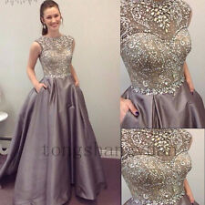Crystals Evening Dresses For Women Pageant Formal Prom Gowns Party Cocktail 2017