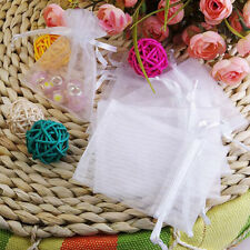 100pcs Colorful Organza Favor Bags for Party Wedding Drawstring Pouches Gift Bag