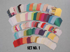 100 NEW PATTERNED / PLAIN TAGS FOR CARDMAKING / SCRAPBOOKING / LABELS ETC