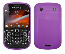 TPU Soft Rubber Gel Case Cover for Blackberry Bold Touch 9930 / 9900 - Purple