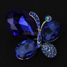 Fashion Crystal Butterfly Brooch Pin Jewelry Accessories