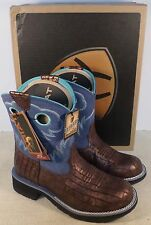 ARIAT 10011870 WOMEN'S FATBABY SHEILA PEARLY CROC PRINT WESTERN BOOTS NEW IN BOX