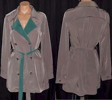 POTTER'S POT Brown Green Belted Double Breasted Jacket Sz S,M,L NWT